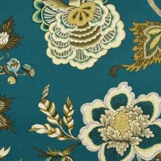 This is a medium weight 100% cotton canvas with large floral paterns. Ideal for upholstery jobs.