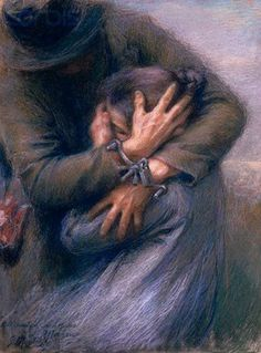 Giuseppe Mentessi (1857-1931) Italian Painter.  such emotion.