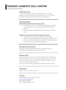 Microsoft Office Resume Template Gallery  Winword Resume