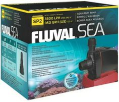 Hagen Fluval Sea SP2 Sump Pump for Aquarium Help ensure outstanding water flow for sump-equipped marine systems. Powerful flow rates and head delivery. Low heat transfer to energy consumption. Includes barbed hose fittings. North America: 120V/60 Hz/58W/Up to 950 GPH.  #Fluval #PetProducts