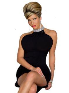 Sexy Elegant Black Halter off shoulder Mini Dress « Dress Adds Everyday