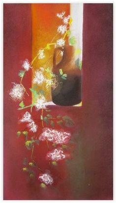 Fleurs de lumière - Swaze, peintre pastelliste
