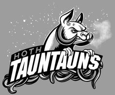 HOTH Tauntauns (a Star Wars inspired sports team design) by Kari Fry.