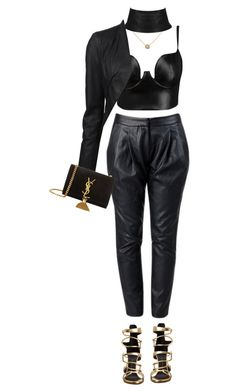"""""""Untitled #130"""" by ayra2 ❤ liked on Polyvore featuring Posh Girl, ISABEL BENENATO, J APOSTROPHE, Giuseppe Zanotti and Yves Saint Laurent"""