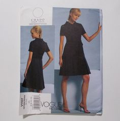 Vogue A Line Dress Pattern V1107 Chado Ralph Rucci American Designer Series Size AA 6 8 10 12 Uncut 2009 by Tntbrbefan on Etsy