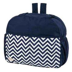 amplias pañaleras para bebe bolsa back pack navy chevron