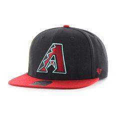 hot sales 06e79 fd7c5 Arizona Diamondbacks Sure Shot Two Tone Captain Black 47 Brand Adjustable  Hat