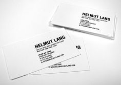 Helmut Lang Business Cards