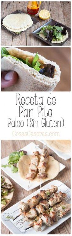 Con esta fácil receta de pan pita sin gluten, puedes acompañar los kebaps o enrollar ensaladas y sandwiches en un pan flexible sin trigo y paleo. Receta en español.