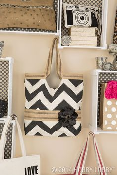 What's black and white and chevron all over? This totes-trendy tote, of course! And we promise—this is the easiest DIY project of the century.