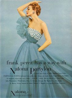 #vintage #blue #gown