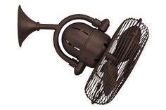 oscillating wall mounted fans | ... larger picture of Matthews Fan Co. Ceiling Fan Model MG-KC-TB - photo
