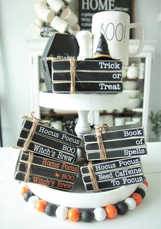Your place to buy and sell all things handmade Halloween Books, Holidays Halloween, Halloween Themes, Halloween Diy, Halloween Decorations, Halloween Projects, Book Decorations, Halloween Lanterns, Decor Ideas