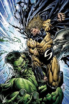 #WorldWarHulk: Hulk vs. The Sentry ~ art by David Finch