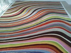 As well as cleaning oriental rugs we also clean designer rugs. This rug is from designer Paul Smith.  www.plymouthrugcleaning.co.uk