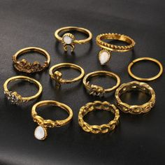 10Pcs/Set Woman Fashion Boho Rings    http://playertronics.com/product/45807/