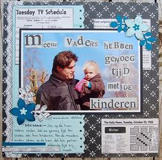 """'Father & kid', 8"""" x 8"""" scrap lay-out"""