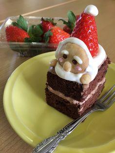 サンタのチョコケーキ