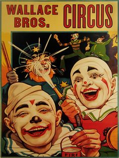 1000 Images About Clowns On Pinterest Vintage Circus Posters Circus Clown And Circus Poster