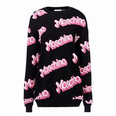 Moschino Women Black Barbie Sweater Short Dress