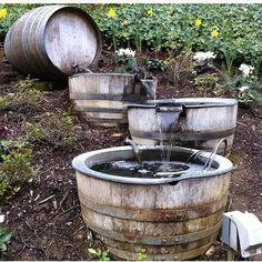 Whiskey Barrel Fountain: Idea for you Nichole Olson!