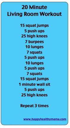 20 Minute Living room workout.    Health.MyShaklee.com