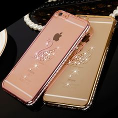 Rose + Gold Plating Diamond Bling Peacock Shell Swan Pattern Case For Iphone 6 6s 7 4.7 Inch 7 Plus 5.5 Crystal Tpu Soft Covers // iPhone Covers Online //   Price: $ 16.18 & FREE Shipping  //   http://iphonecoversonline.com //   Whatsapp +918826444100    #iphonecoversonline #iphone6 #iphone5 #iphone4 #iphonecases #apple #iphonecase #iphonecovers #gadget #gadgets