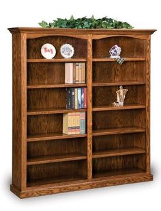 Got books? There's plenty of room on the ten shelves of the Hoosier Heritage Double Bookcase. Amish made in choice of wood. Option to add glass doors too. Dovetail Furniture, Amish Furniture, Furniture Direct, Types Of Furniture, Solid Wood Furniture, Furniture Making, Furniture Ideas, Large Bookcase, Bookcases