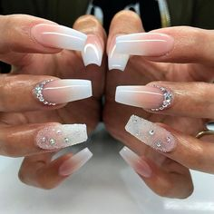 awesome 25 Fancy White Coffin Nails - Bright and Fasionable Designs