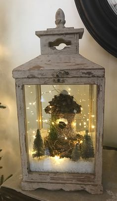 Cheap and Easy Dollar Store Christmas Decorating Ideas – Winter Scene Lantern – christmas decorations Christmas Table Centerpieces, Christmas Lanterns, Rustic Christmas, Christmas Time, Christmas Crafts, Christmas Decorations, Holiday Decor, Cheap Christmas, Xmas