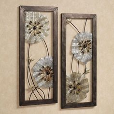 The openwork flower blossoms on the Malacia Floral Metal Wall Art Set create a dazzling display. These metal wall art panels have a multimetallic finish that includes blends of silver and gold. Metal Flower Wall Art, Metal Wall Panel, Metal Tree Wall Art, Panel Wall Art, Metal Walls, Metal Art, Wall Decor Set, Tree Wall Decor, Wall Art Sets