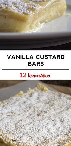 Classic Vanilla Custard Bars