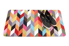 Ziggy Pattern Floor Mat (30-Inch x 17.5-Inch) by FRENCH BULL   [This item is no longer available.]