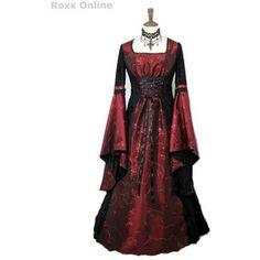 A dazzling black-red medieval/gothic gown!