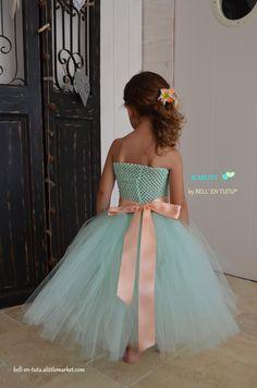 "robe longue en tulle 2-4 ans modèle scarlett"" : Mode filles par bell-en-tutu"