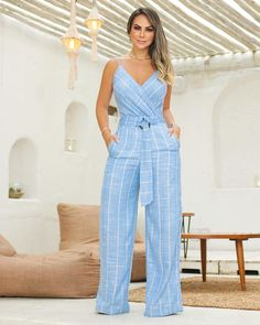 Solid Color Hollow Out Jumpsuit Casual Chic, Casual Wear, Casual Outfits, Summer Outfits, Denim Fashion, Cute Fashion, Womens Fashion, Jumpsuit Outfit, Pants For Women
