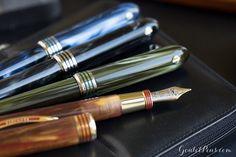 Visconti Saturno Fountain Pen -Available in Blue Titan, Black Rhea, Green Lapetus and Brown Dione