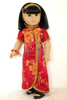 American Girl 18 inch Doll Clothing Red by TwirlyDollDesign