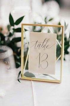 You can't go wrong with simple, framed calligraphy.