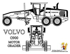 Printable Construction machines | Construction Coloring Pages For Kids | Free| Construction Equipment ...