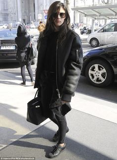 In advance: Sara Sampaio was spotted out and about in Milan on Tuesday, a day before the N...