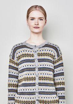 Ravelry: Sognekofta dame pattern by Sandnes Design Fair Isle Knitting, Pullover, Ravelry, Knit Crochet, Men Sweater, Stylish, Sweaters, Design, Fair Isles