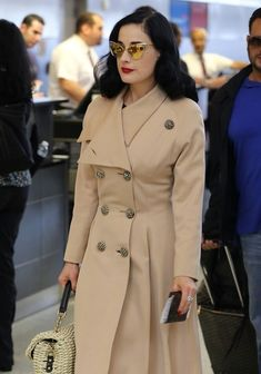 58fb76618e2 Dita Von Teese Photos - Dita Von Teese dresses in fashionable style as she  prepares to
