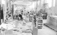 Ateliê - Massa, Carrara. Itália. 1964 - 1990. #sergiocamargo #bw #abstraction #geometry #sculpture