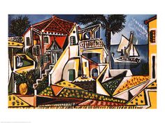 "Mediterranean Landscape Art Print by Pablo Picasso at Art.com  |  $39.99, 31"" x 24"" [28"" x 18"" without border)"