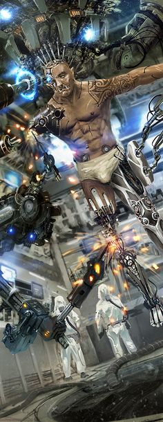 Mega corp body shop, Benjamin Giletti on ArtStation at… Cyberpunk Rpg, Cyberpunk Character, Samurai, Black Book Edition, Sabre Laser, Space Opera, Ghost In The Shell, Cultura Pop, Sci Fi Art