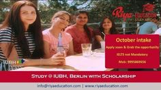 Study at IUBH, Berlin with Scholarship. Visit our website for contact details. #Germany #overseas education #study in germany