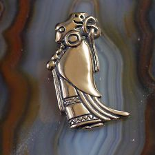 Reproduktion  Wikinger Amulett Walküre aus Bronze Mittelalter Walküren Anhänger