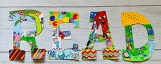 Painting Wooden Letters, Painted Letters, Hand Painted, Letter Set, Letter Wall, Storybook Nursery, Read Letters, Teacher Signs, Classroom Walls