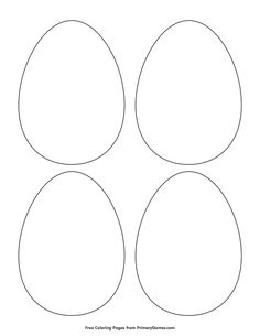 Free printable Easter Coloring Pages eBook for use in your classroom or home from PrimaryGames. Print and color this Simple Egg Outline 4 coloring page. Easter Bunny Template, Bunny Templates, Templates Printable Free, Easter Crafts For Toddlers, Easter Crafts For Kids, Kids Diy, Easter Egg Coloring Pages, Bear Coloring Pages, Easter Egg Outline